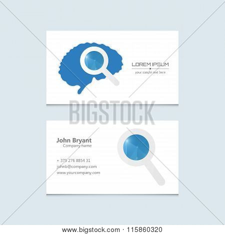 Abstract Creative concept vector image logo of brain for web and mobile applications isolated on bac