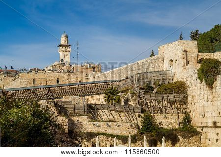 Mughrabi Bridge, Old City Of Jerusalem