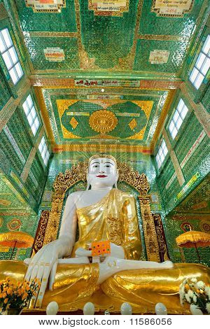 Giant Buddha In Sagaing Hill, Mandalay, Myanmar.