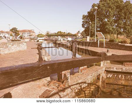 Lock Gate In Stratford Upon Avon Vintage