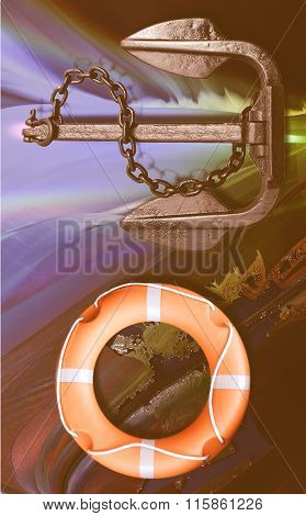 Lifebuoy And Anchor Vintage