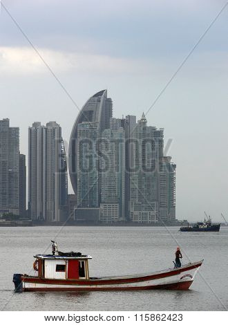 Fisherman boat in Panama City