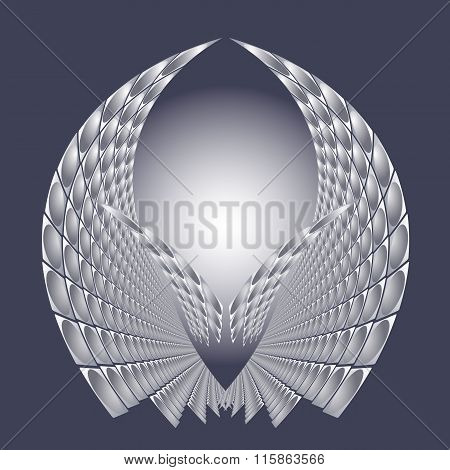 Vector illustration with abstract bright future technology  structure.