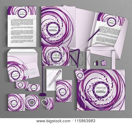 Corporate Identity. Set with colorful designs.