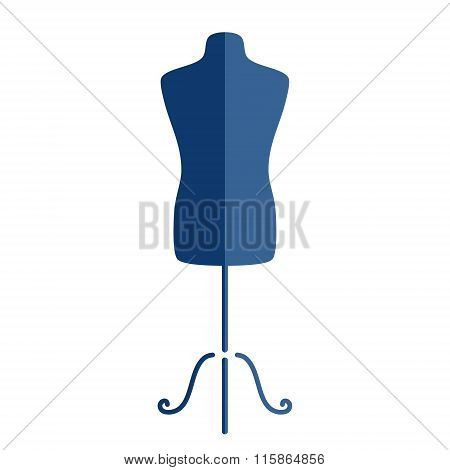Tailor s mannequin isolated on white background