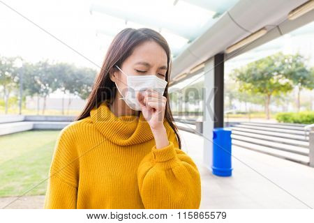 Young Woman gold cold and cough