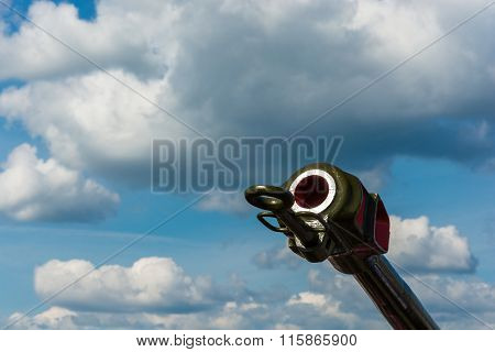 Gun Barrel Against The Sky.