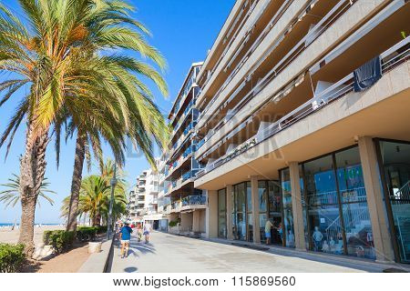 Calafell Town In  Sunny Summer Day. Spain