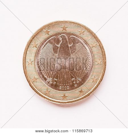 German 1 Euro Coin Vintage
