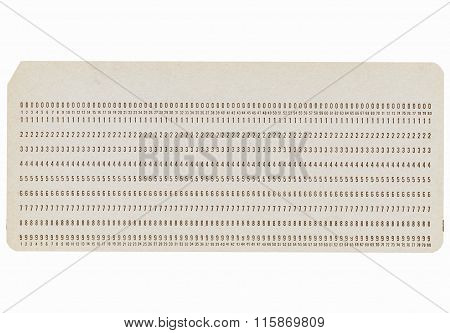 Punched Card Vintage