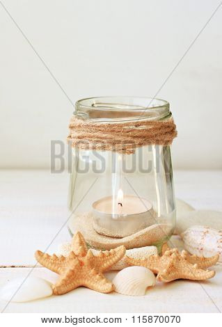 Coastal style candles