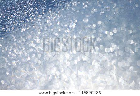 Blue sparkling surface