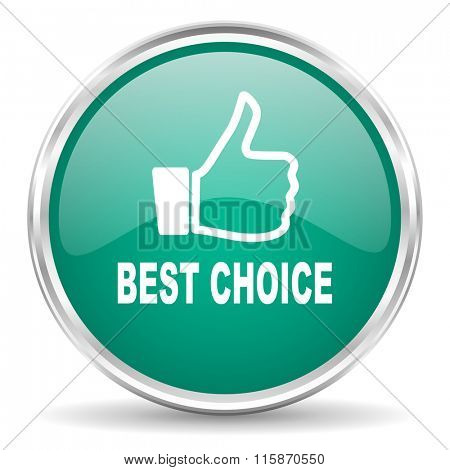best choice blue glossy circle web icon