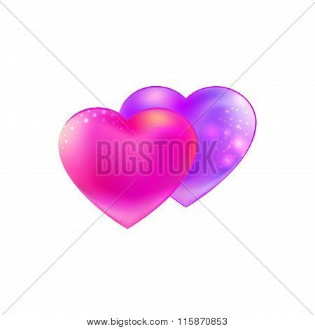 Trend colors Hearts together