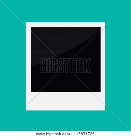 Instant Photo In Flat Design Style. Template