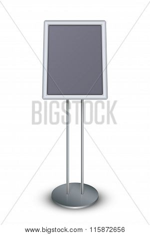 Floor Standing Poster Holder. Vector Illustration Eps 10.