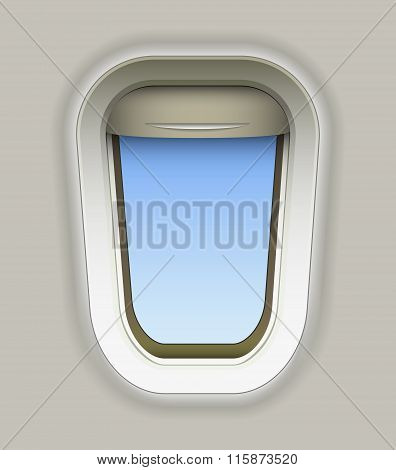 the airplane with the sky background. vector illustration
