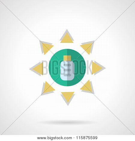 Solar energy flat color vector icon