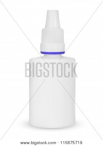 Spray Medical Nasal Antiseptic Drugs Plastic Bottle White. Vector Eps10