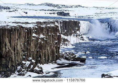 Beautiful Waterfall Selfoss In Iceland
