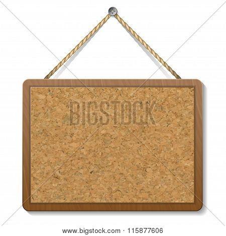 Cork Bulletin Board. Vector Illustration