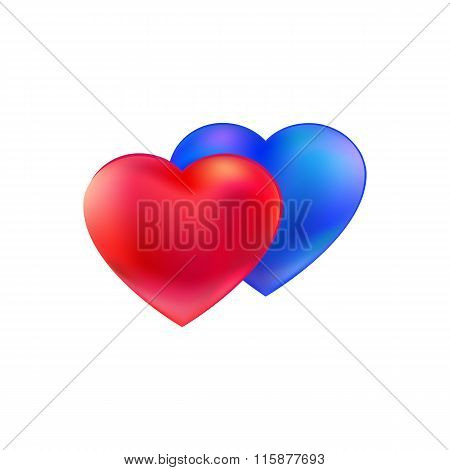 Different Hearts together vector logo