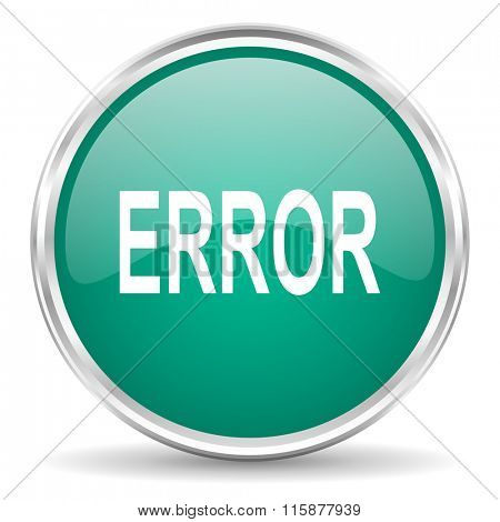 error blue glossy circle web icon
