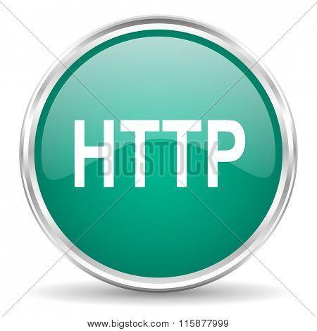http blue glossy circle web icon