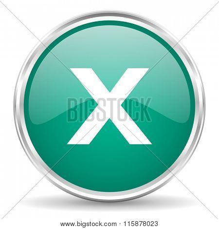 cancel blue glossy circle web icon