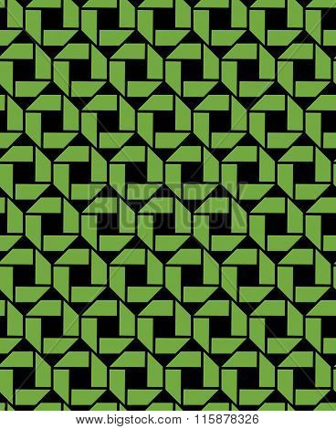 Green Endless Vector Texture With Geometric Figures, Motif Abstract Geometric Background