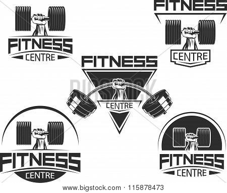 Icons for bodybuilding and fitness