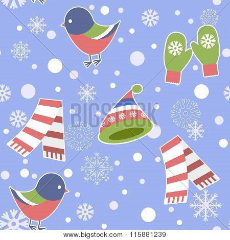 Seamless Pattern - Snowflake, Vector, Snow, Backgrounds, Snowing