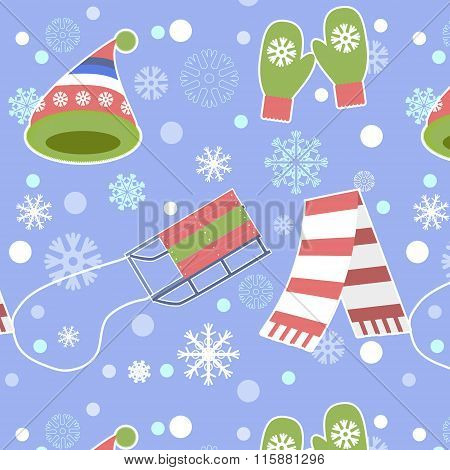 Seamless Pattern - Snowflake, Vector, Snow, Backgrounds