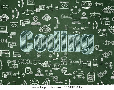 Programming concept: Coding on School Board background