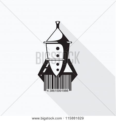Rocket barcode vector illustration