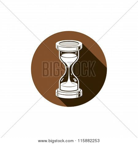 Time Without End Conceptual Icon, Web Design Element. 3D Vector Antique Hourglass Isolated On White.