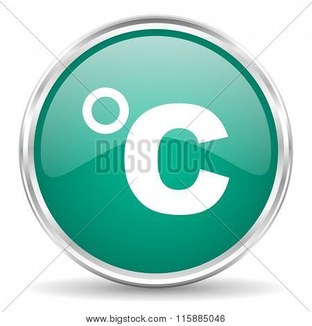 celsius blue glossy circle web icon