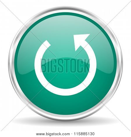 rotate blue glossy circle web icon
