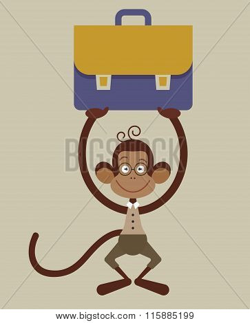 Monkey With A Briefcase