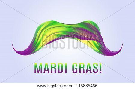 Mardi Gras. Colorful Mustache