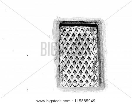 Greece Antique     Window  Gray Concrete