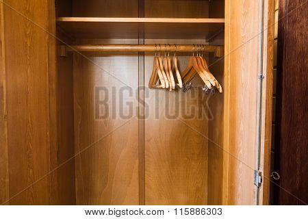 White Hotel hanger in the wardrobe