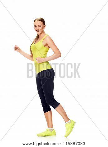 Runner woman smile