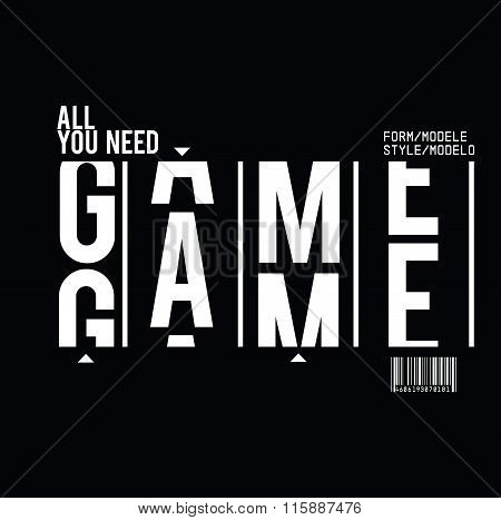 Vector Game Text Print