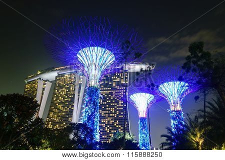 Beautiful buildings And Landmarks Of Singapore.