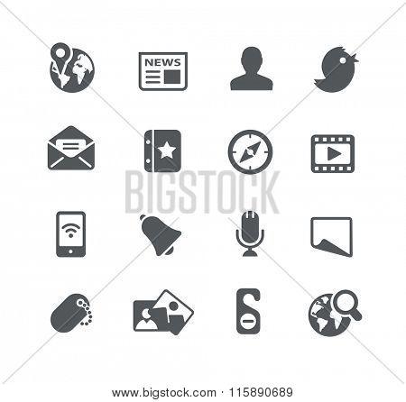 Social Web Icons // Utility Series