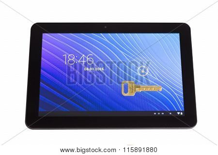 Locked Tablet Pc  And The Key
