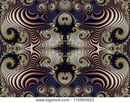 Fabulous Background With Spiral Pattern. You Can Use It For Invitations, Notebook Covers, Phone Case