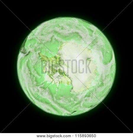 Antarctica On Green Planet Earth