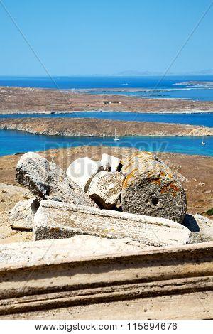 Sea In Delos Greece The Historycal  Site